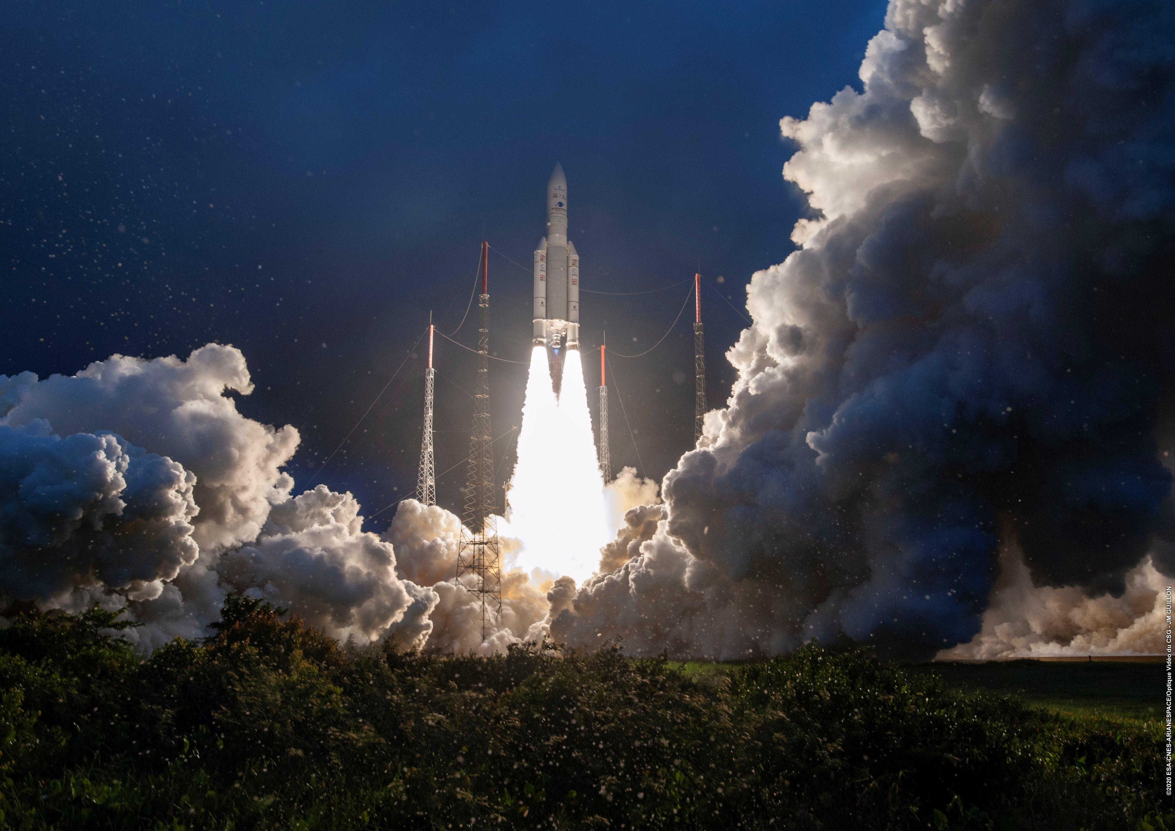 Imagen de Ariane 5 depegando