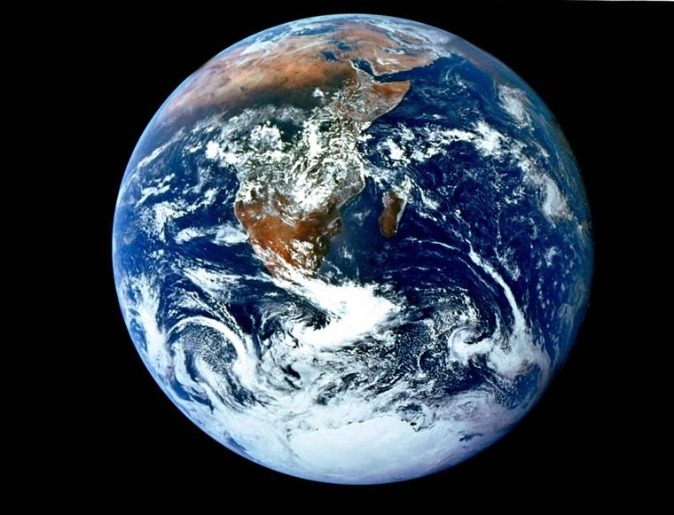 Conica Azul tomada por la mision Apolo 17