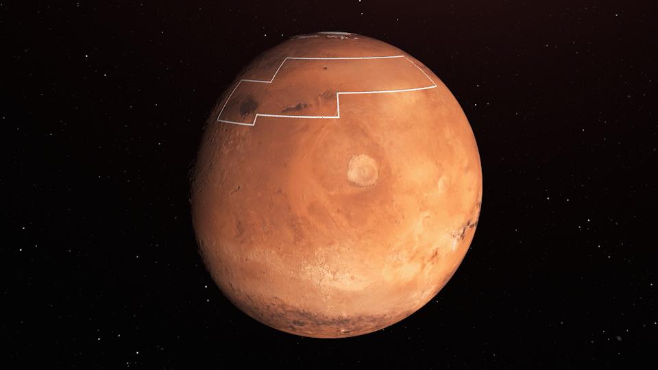 Mapa Marte